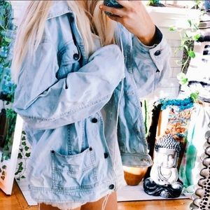 Denim oversized jacket